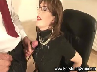 British Clothed Cumshot European Glasses
