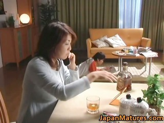 horny japanese cougar chicks licking
