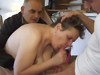 Anal Blowjob European French Mature Threesome