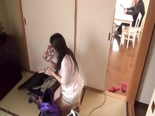 heavy japanese milf does a young man in the home