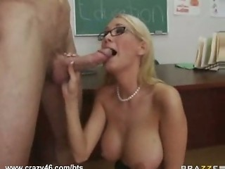 Busty Teacher Gets Ripped By ...
