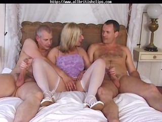 english lady josephine james into a mmf triple