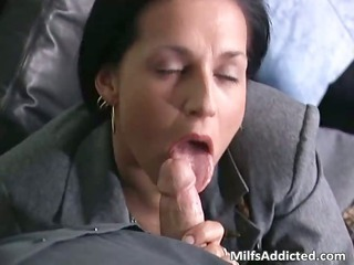 Blowjob Clothed Cumshot  Secretary Swallow