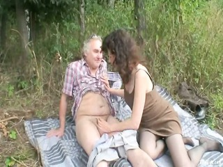 outside mature duo fuck