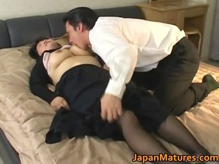 Asiatique Joufflue Japonaise Mature Bas