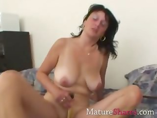 Dildo Masturbating Mature Mom  Toy
