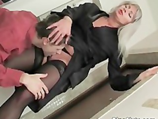 Licking Mature Mom Old and Young Russian Stockings
