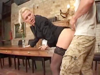 Doggystyle European German Mature Stockings