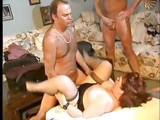 fat cougar and six guys  gangbang