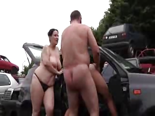 Car Chubby Daddy Daughter Doggystyle Family Hardcore Mature Mom Old and Young Outdoor Threesome