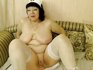 Granny Nurse Stockings Uniform