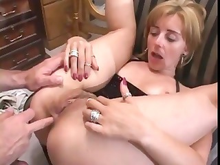 dirty mature blond obtains fingered and pierced