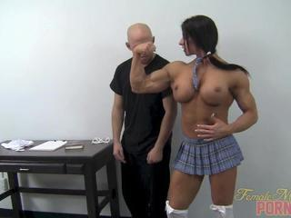 Muscular Schoolgirl Dominates Her Teacher 1 of 2