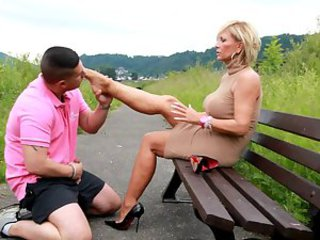 Lady barbara footjob 1