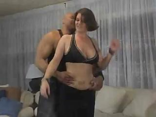 Tattooed MILF with big tits slurps down cock and gets fucked