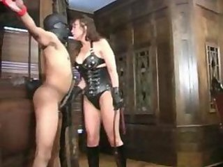 Bizarre mature dominatrix anomalous balls busting
