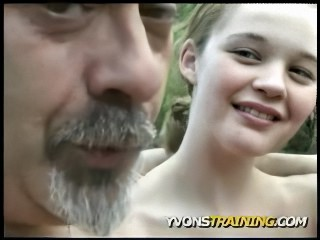 Amateur Daddy Old and Young Outdoor