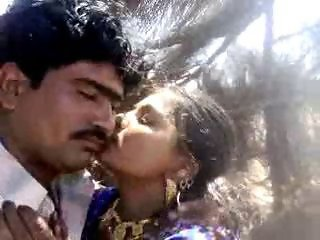 Amateur Indian Kissing Wife