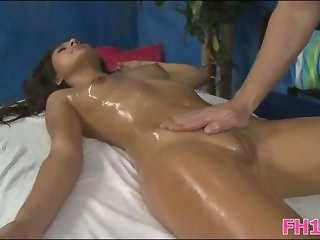 Massage Oiled Pussy Shaved Teen