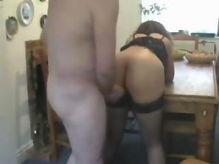 Amazing amateur couple doing sex in the kitchen