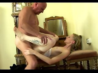 Grandpa fuck his young Girlfriend (Creampie) Part II