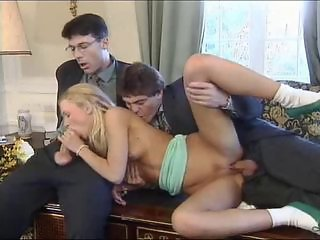 Threesome in office