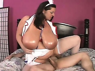 Big Tits  Natural Nurse Riding  Stockings Uniform