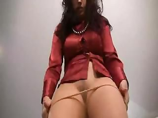 German satin blouse skirt pantyhose
