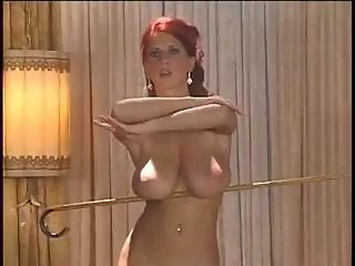 Amazing Big Tits Erotic  Natural Piercing Redhead Solo Stripper