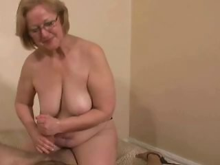 Amateur Chubby Glasses Handjob Mature