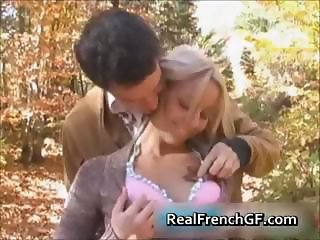 Teen french bombshell forest fucking fun