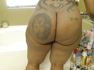 Ass Bathroom  Ebony Tattoo