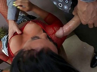 Blowjob Fishnet  Pornstar