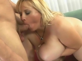Big Tits Blonde Blowjob  Natural Wife
