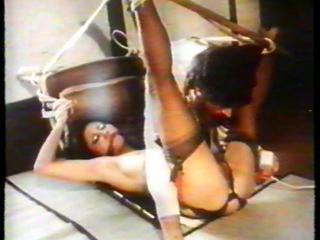 70's - Bondage and pussy jobs for a slut in nylon stockings