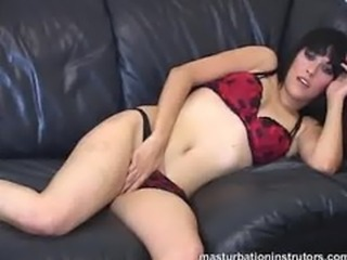 Jerk off teacher spreads her legs and caresses her body to tease