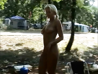 Cute amateur camping hand job pov cs