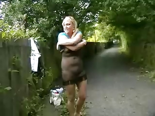 geordie girl flashing