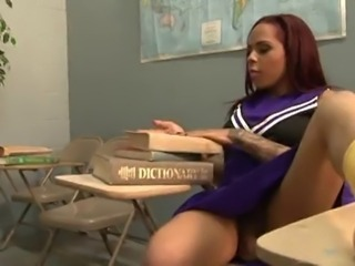 Ebony School Student Teen Uniform Upskirt