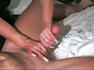 Hot lubed handjob from Live