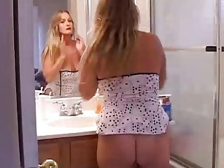 Ass Bathroom Chubby Mature