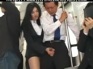 Asian Clothed Handjob Japanese Old and Young Public Teen