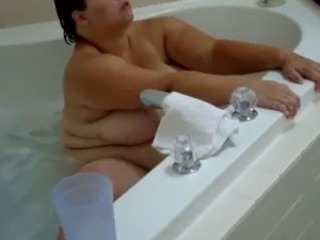 BBW Ex-Wife Orgasms on Whirlpool Jets