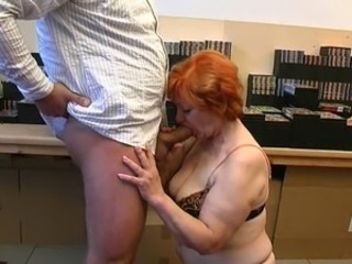 Blowjob Chubby Mature Old and Young Redhead