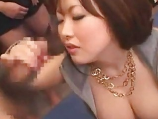 Asian Big Tits Handjob Mature