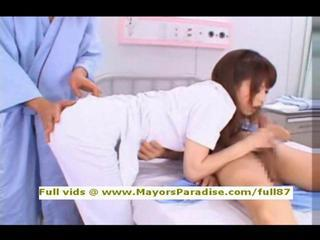 Asian Blowjob Clothed Nurse Threesome Uniform