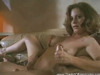 This girl is bored but jerks cock