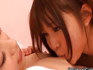 Asian Japanese Kissing Lesbian Teen