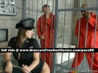 Interracial  Prison Threesome Uniform