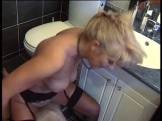 European French Mature Riding Toilet